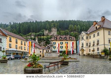 основной квадратный Австрия мнение замок руин Сток-фото © borisb17