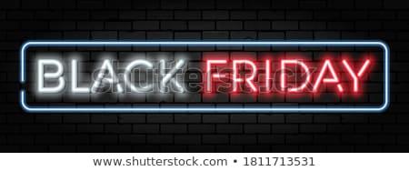 black friday neon sale banner design background Stock photo © SArts