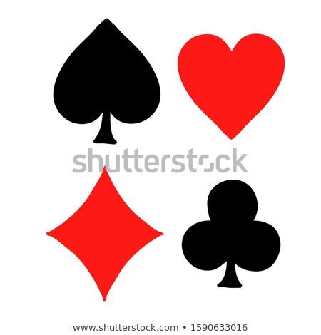 Gekleurd speelkaarten illustratie vector zwarte werk Stockfoto © TRIKONA