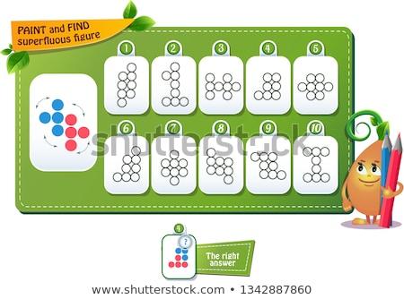 Vinden cijfer spel kinderen volwassenen ontwikkeling Stockfoto © Olena