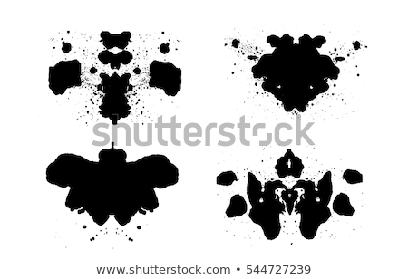 Rorschach Test Ink Blob Set Stock photo © patrimonio