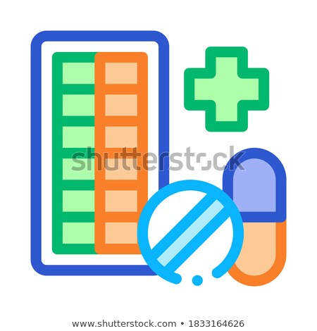 аптека икона вектора тонкий линия Сток-фото © pikepicture