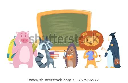Rugzak terug naar school grappig boek Stockfoto © frimufilms