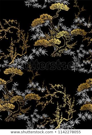 Bambu planta asiático sem costura vetor Foto stock © yopixart