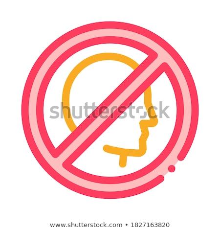Tilalom személyiség ikon vektor skicc illusztráció Stock fotó © pikepicture