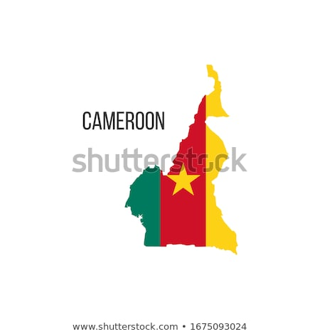 Cameroon flag, vector illustration on a white background Stock photo © butenkow