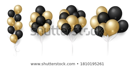Realistic white balloon on white background with shadow. Shine helium balloon for wedding, Birthday, Stock photo © olehsvetiukha