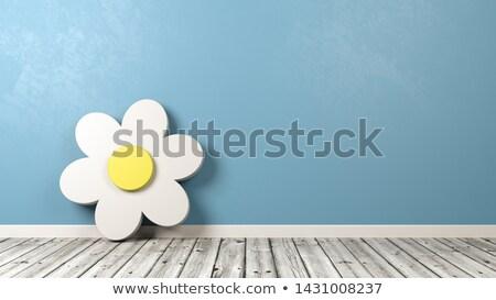 Daisy fiore muro bianco Foto d'archivio © make