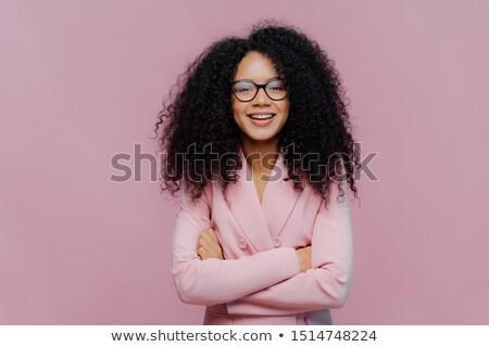 Zadowolony kobieta optyczny okulary wizji Zdjęcia stock © vkstudio