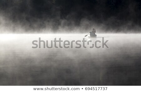 Morning mist in Canoe Country Stock photo © wildnerdpix