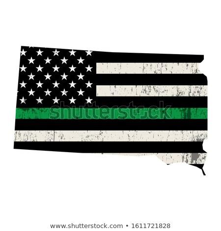 Dél-Dakota katonaság támogatás amerikai zászló forma illusztráció Stock fotó © enterlinedesign