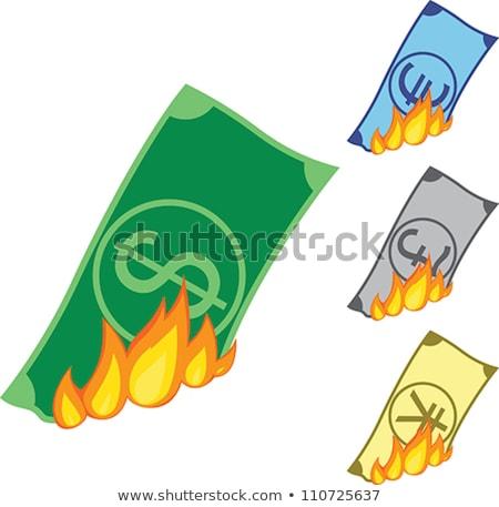 Pound yanan nakit dikkat görüntü Stok fotoğraf © albund