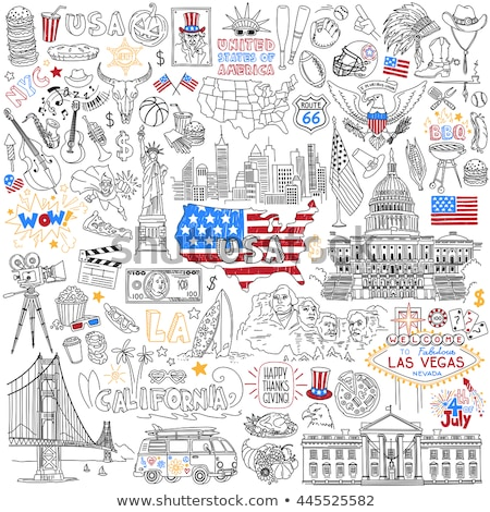 родной американский рисованной вектора иллюстрация Сток-фото © balabolka