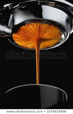 Espresso tasse de café toile de jute sac fèves Photo stock © antonio_gravante