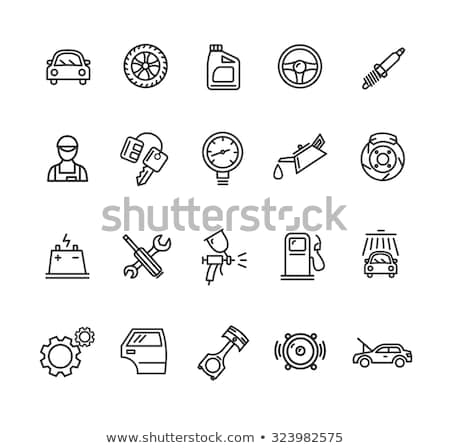 tire diagnostics icon vector outline illustration Stock photo © pikepicture