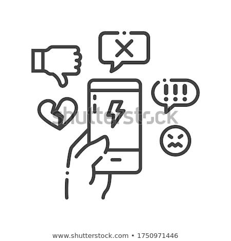 Emberi megfélemlítés ikon vektor skicc illusztráció Stock fotó © pikepicture