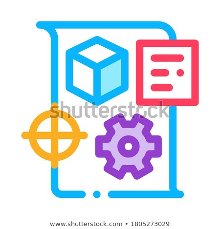 Technische icon vector schets illustratie teken Stockfoto © pikepicture
