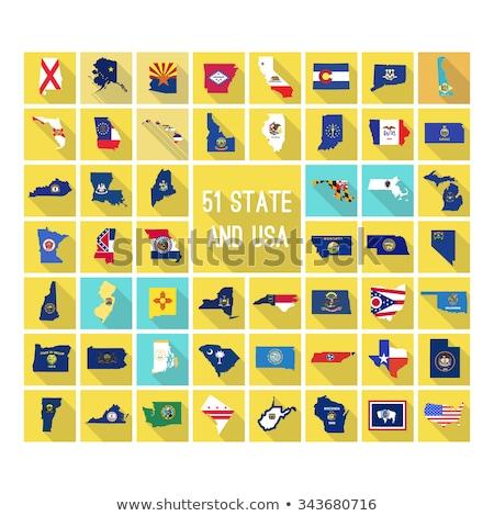 Vektor szett zászlók amerikai Észak-Karolina különböző Stock fotó © butenkow
