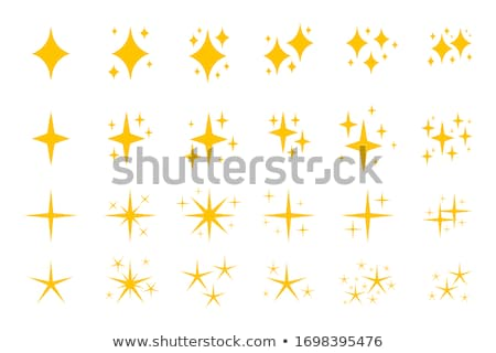 Set of different starbursts with white sparkles Stock photo © evgeny89