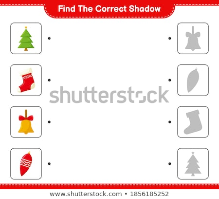 Find the correct shadow of Christmas tree. Education game for preschool kids Stock photo © natali_brill