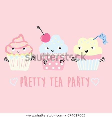 Stockfoto: Cute Cupcakes Vector