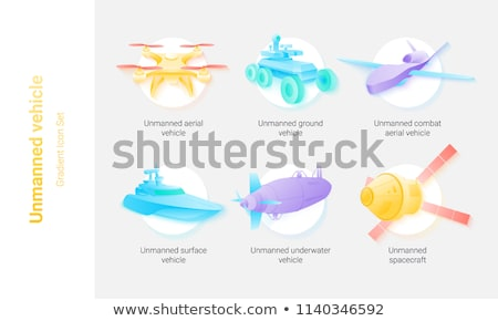 Stock photo: different kinds of future spacecraft icons