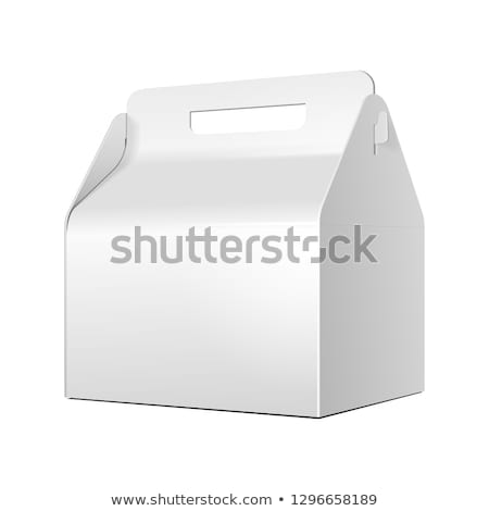 hambúrguer · batata · isolado · branco - foto stock © pressmaster