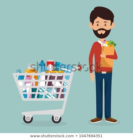 compras · almacenamiento · abrigo · negocios · metal · supermercado - foto stock © deyangeorgiev