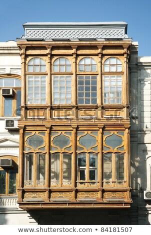 Tradycyjny balkon okno architektury szczegół Azerbejdżan Zdjęcia stock © travelphotography