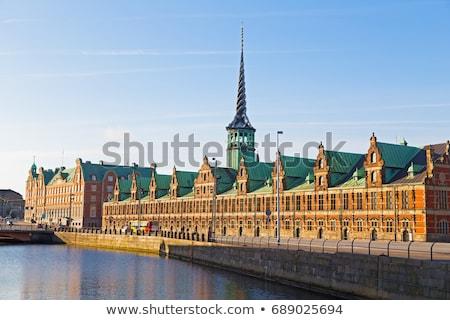Eski borsa Bina Kopenhag kule üç Stok fotoğraf © Arrxxx