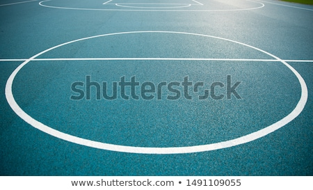 park basketball ring close up and blue sky stock photo © latent