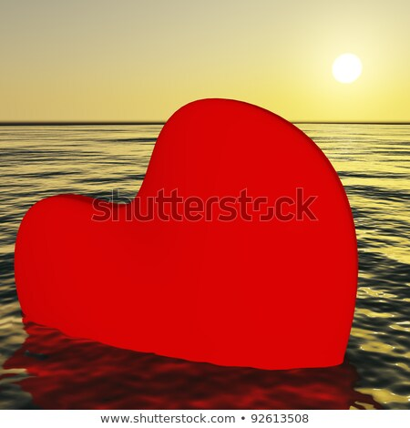 Heart Sinking Showing Loss Of Love And Broken Heart Stock photo © stuartmiles