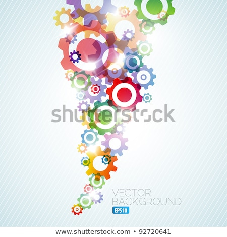 Vector technical background made from cogwheels Stock photo © orson