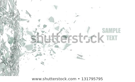 Broken and Shattered Glass Pane Stock photo © ArenaCreative