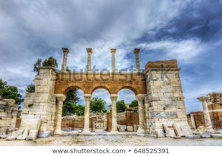 basílica · ruínas · anúncio · imperador · colina · primavera - foto stock © forgiss