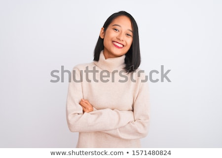 Asian people: Casual asian woman isolated stock photo © Ariwasabi