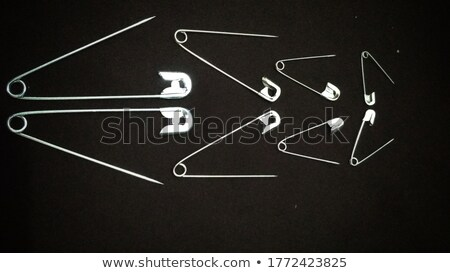 Stock photo: open safety pin