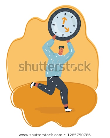 vector · negocios · mano · cara · reloj - foto stock © carbouval