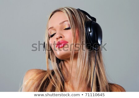 красивой поп девушки наушники Сток-фото © lithian