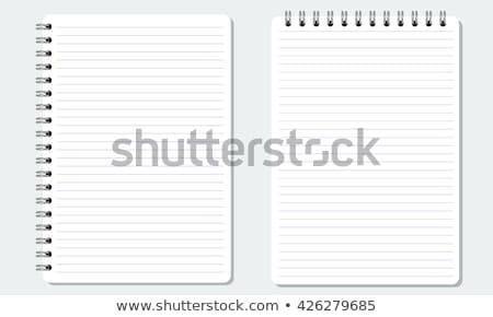 Stock fotó: Spirál · vonal · notebook · könyv · fekete · gyűrű