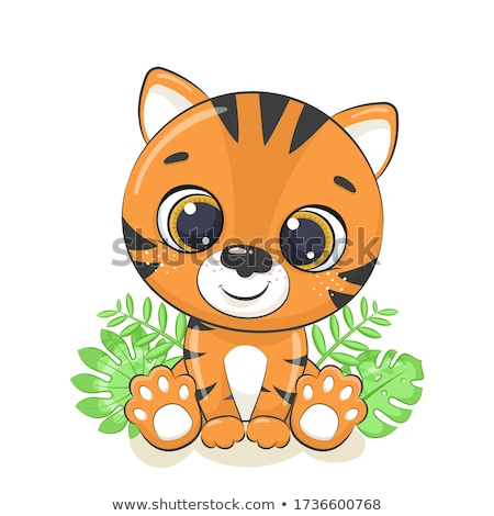 baby · Tygrys · charakter · ilustracja · kot · projektu - zdjęcia stock © indiwarm