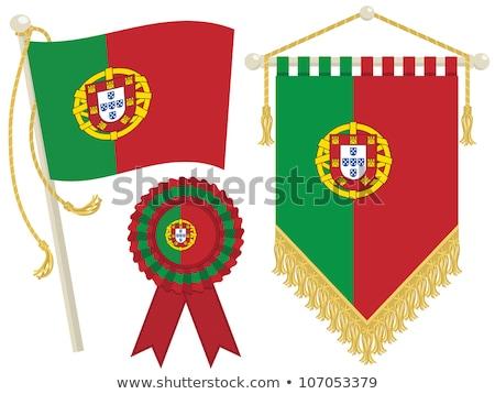 portugal rosette flag stock photo © milsiart
