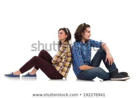 Pareja · estudio · hombre · feliz · retrato - foto stock © stockyimages