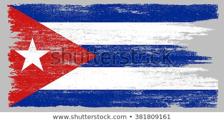 Zdjęcia stock: Cuba Retro Flag