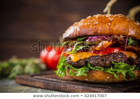 чизбургер макроса жира сэндвич еды Сток-фото © ozaiachin