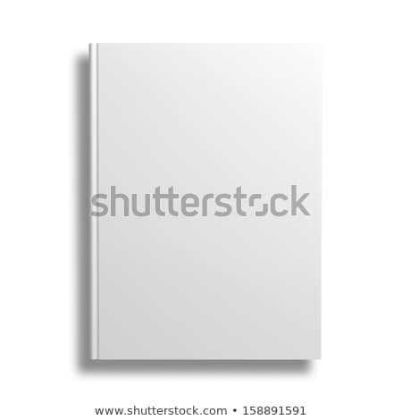 Standing blank hardcover book isolated on white background. Stock photo © tuulijumala