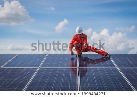 Trabalhadores indicador painel trabalhar vermelho de volta Foto stock © photography33