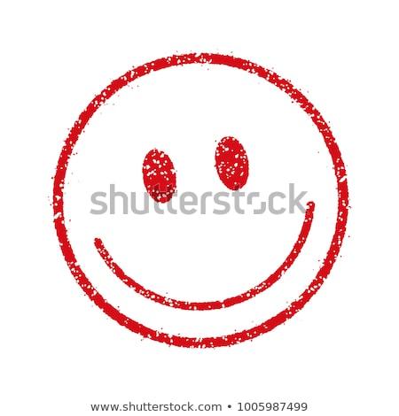 Glückliches Gesicht Stempel Foto Jahrgang alten getragen Stock foto © sumners
