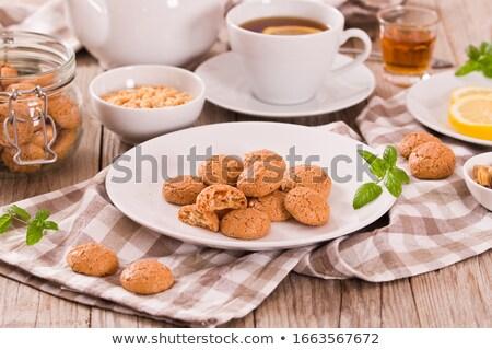 mint tea and pastry Stock photo © M-studio