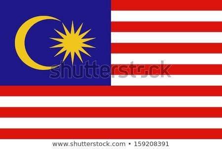 Bayrak Malezya bulutlu gökyüzü rüzgâr Stok fotoğraf © timbrk